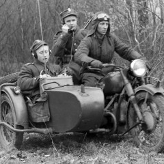 Motocykl M 72 w akcji z