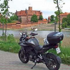 Widok znad Nogatu na zamek w Malborku z