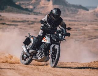 KTM 390 Adventure 2020 off jazda bokiem prawy przod z