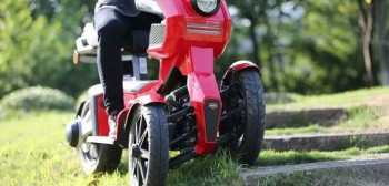 iTank - dziwny, trzykołowy, elektryczny skuter