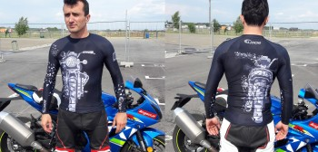 Bielizna termoaktywna - motocyklowa koszulka rashguard Extreme Hobby