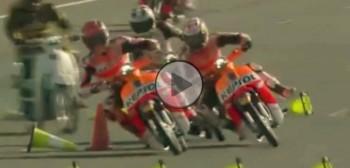 Wyścig gigantów. Marquez i Pedrosa rywalizują na skuterach