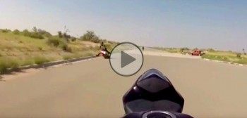 Ciężka szkoła stuntu i uciekający motocykl