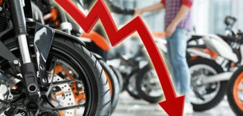Rejestracje motocykli w marcu 2020. Widać potężne tąpnięcie spowodowane izolacją