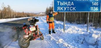 Jeździ motocyklem przy -70 °C. White Wolf Marco. Kim jest i jakim motocyklem jeździ?