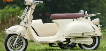 Vespa Elettrica z wózkiem bocznym. Szalona produkcja Chińczyków ze Stanford eBikes