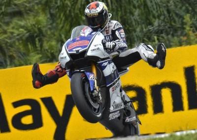 Grand Prix Malezji 2012 - motocykle w deszczu