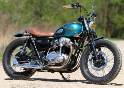 31 Kawasaki W 650 Flying Duxe custom bobber z