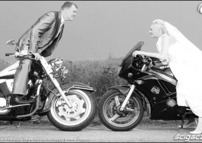 Wesele motocyklowe - Żaneta i Marcin na dwóch kółkach