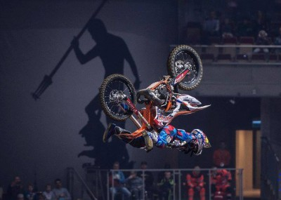 Mistrzostw Świata Diverse Night Of The Jumps - FMX w Ergo Arenie na zdjęciach