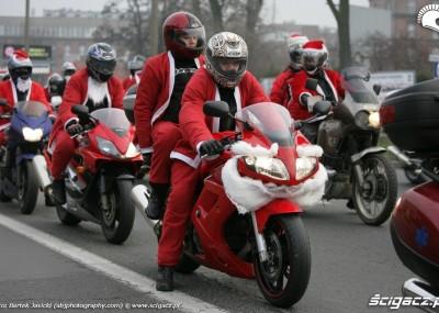 Krakowscy Mikołaje na motocyklach 2009