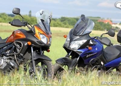 Turystyczne enduro Suzuki - zdjęcia dwóch generacji V-Storma