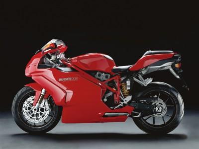Ducati 999 czerwona profil