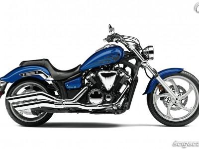 niebieskie malowanie tribal Yamaha Stryker
