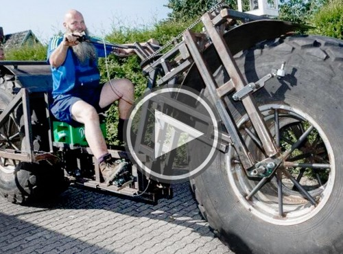 Rolnik szuka żony... na 1. tonowym jednośladzie - niemiecki Behemoth Bike