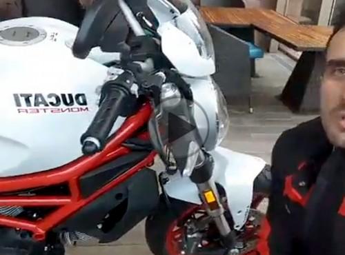Ducati 797 Monster model 2017 - oglądaj na żywo z Francji