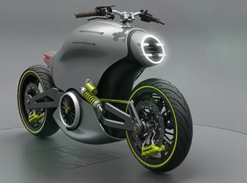 Elektryczny motocykl Porsche 618