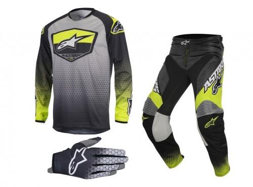 Koszulka, spodnie, rękawice Alpinestars Racer Supermatic