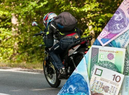 Elbląg: motocykliście wypadło z plecaka 8 tys. zł...