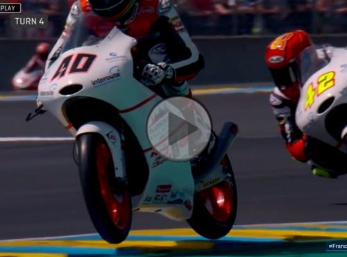 Latający motocykl w Moto3. Nie uwierzysz, że się z tego wybronił