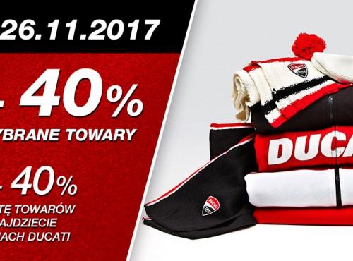 Black Friday, czyli rabaty -40% w salonach Ducati!