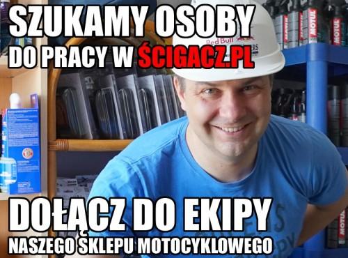 Szukamy osoby do naszego sklepu internetowego - dołącz do Ścigacz.pl