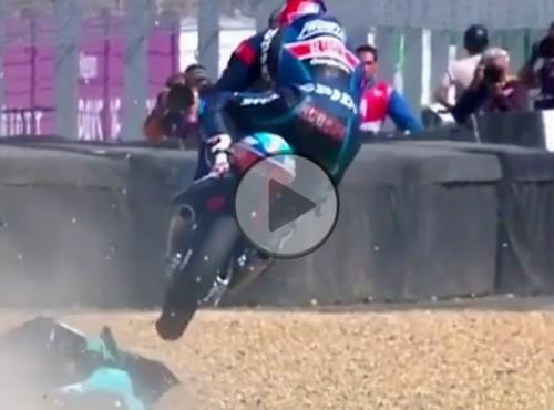 Szczypta motocrossu w wyścigu Moto3 w Le Mans