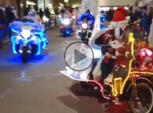 Szwajcarscy Mikołaje na motocyklach - przegięli ostro...