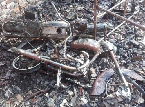 Zachodniopomorskie: ogień strawił unikalną kolekcję zabytkowych motocykli