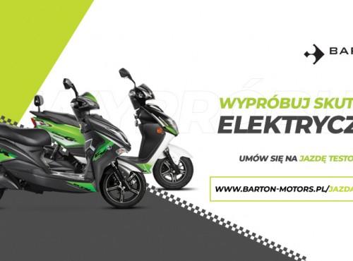 Wypróbuj skuter elektryczny: jazdy testowe Bartonem Energy i E-Max
