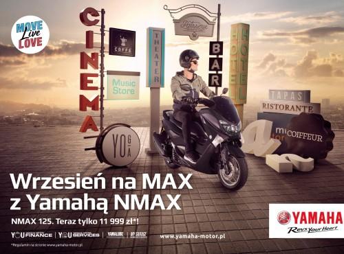 Wrzesień na MAX! Miejski skuter Yamaha NMAX 125 teraz w doskonałej cenie