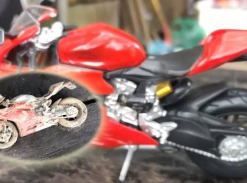 Ducati znalezione w śmieciach. Niezwykła odbudowa Panigale 1199 [FILM]