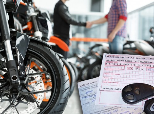 Nawet 45 tys. zł kary za niedopełnienie obowiązku. Uważaj, gdy kupujesz motocykl!