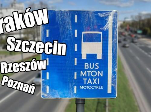 Buspasy dla motocyklistów w Polsce w 2020 r. W których miastach możemy jeździć legalnie?