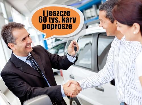 Mimo kwarantanny pojechali kupić samochód. Zapłacą 60 tysięcy zł… plus koszt auta