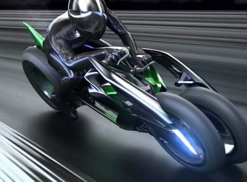 Kawasaki ujawnia patent na trójkołowca, który pochyla się w zakrętach