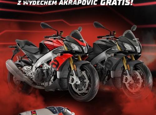 Kupujesz Aprilię Tuono V4 1100 RR? Wydech Akrapović dostaniesz gratis!