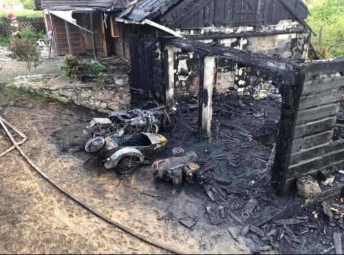 Trwa zbiórka na odbudowę strawionej przez pożar kolekcji motocykli Erwina Gorczycy