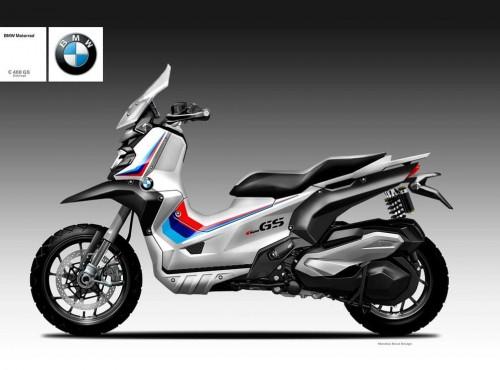 Koncept BMW 400GS Oberdana Bezzi