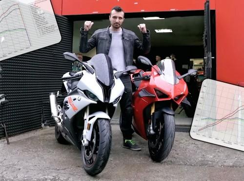 Ducati Panigale V4S vs BMW S 1000RR na hamowni. Ile mają mocy? [FILM]