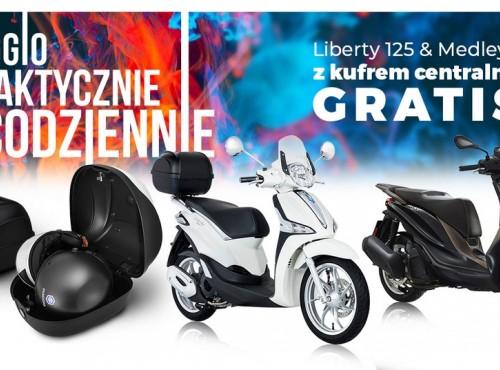 Liberty 125 lub Medley 125 teraz z kufrem centralnym całkiem za free!