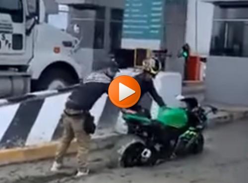 Konie po betonie, czyli kiedy przestrzelisz hamowanie na bramkach poboru opłat... [FILM]