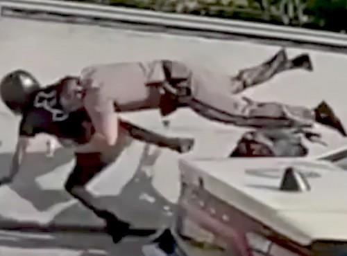 Zatrzymanie na Supermana. Tak policja zatrzymuje motocyklistów na Florydzie. Nie przesadził?