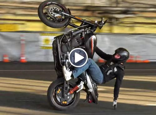 Stunt: Harley-Davidson XR1200 Sportster w akcji
