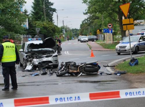 Motocyklista z Łodzi był nietrzeźwy, przekroczył prędkość, brał udział w wypadku i dostanie pokaźne odszkodowanie