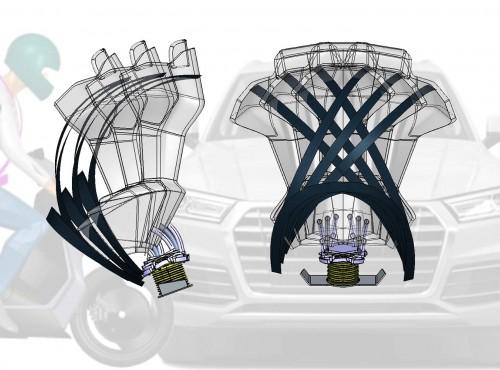 Włoska firma opatentowała inteligentny system pasów bezpieczeństwa dla motocykli. Czy to się sprawdzi?