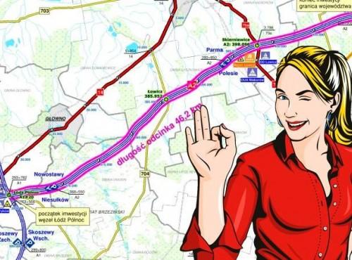 Zmiany na autostradzie A2. Trzeci pas poprawi płynność ruchu, ale czy oznacza utrudnienia podczas prac?