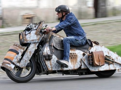 Pancernik - Customowa Yamaha T-Max Andrzeja Turkiewicza z Włocławka