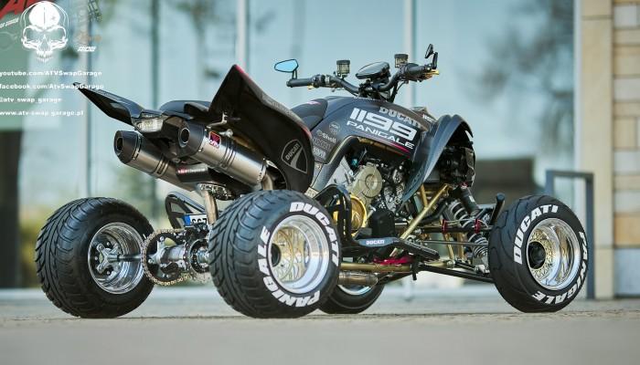 Ducati 1199 Panigale ATV Swap Garage Yamaha Raptor z