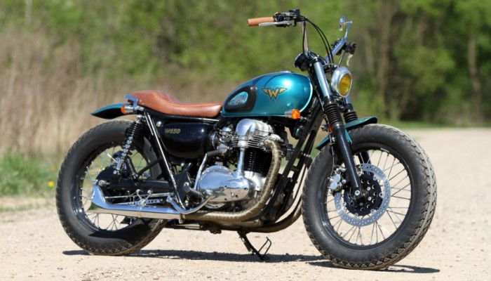 31 Kawasaki W 650 Flying Duxe custom bobber z